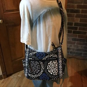 Vera Bradley On The Go Purse in Canterberry Cobalt