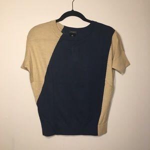 Dress top - Navy & Tan