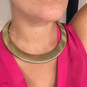 H&M Gold Collar necklace. Trendy!