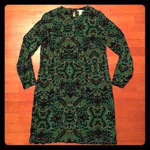 H&M long sleeved shift dress