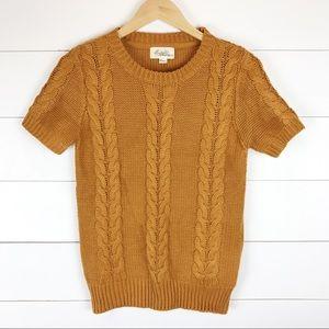 Boutique Forever 21 Burnt Orange Cable Knit M