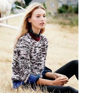 Like New. J. Crew Marled colorblock sweater