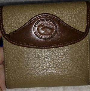 Dooney and Bourke taupe vintage wallet