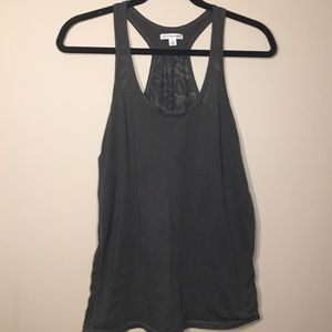Gray tank with sheer detail