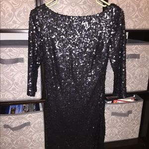 Jessica Simpson little black sequin dress