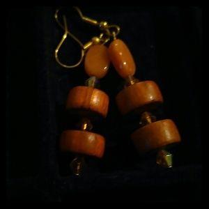 Jewelry - Beaded stone earrings