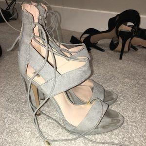 Used Grey zara heels