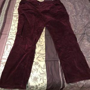 Lane Bryant corduroy pants