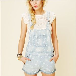 Free People Overalls Shorts