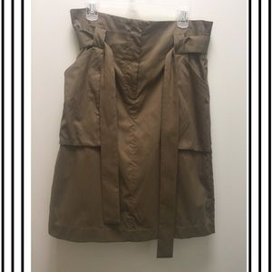 H&M Midi Olive Green Skirt NWOT