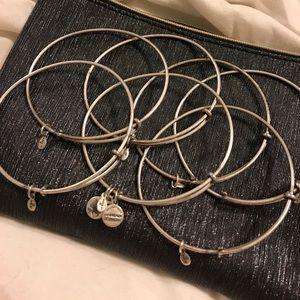 Alex & Ani plain silver bangles