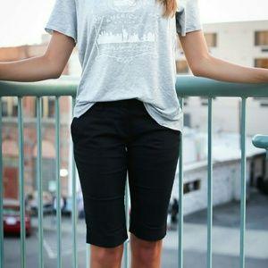 H&M Black wash Denim Bermuda Shorts