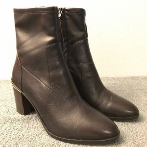 Michael Kors Chase Ankle Boot Stretch Leather