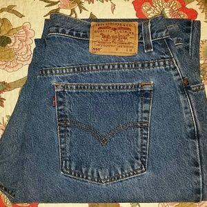 USA LEVI'S 550 Vintage HI-RISE Mom Tapered Sz 18