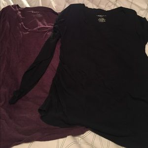 2 Maternity Long Sleeve T-Shirts, size Large