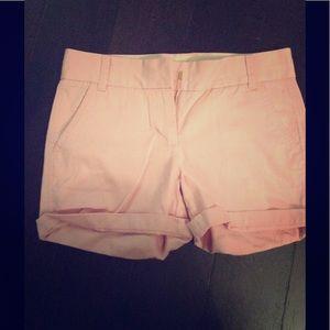 JCrew pink chino shorts