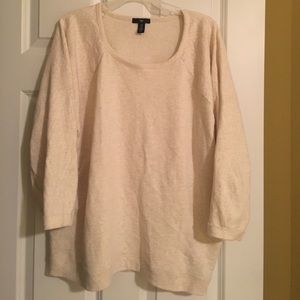 XXL cream 3/4 sleeve sweater. GAP. Worn twice
