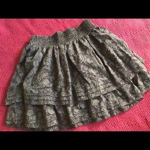Black and grey skirt