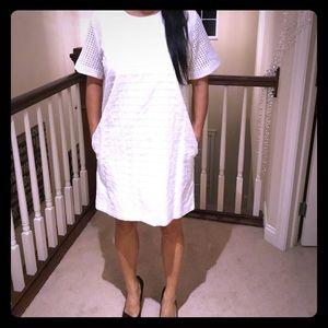 NWT Gap Eyelet White A- line dress S