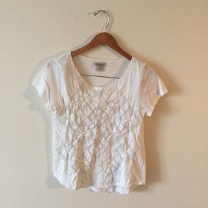 🆕Lucky Brand Crochet White Floral Top Flowers