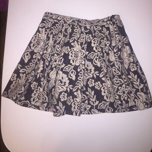 Top Shop fit and flare pleated lace skirt