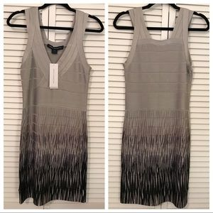 French Connection Banded Grey Dress