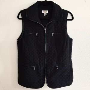 Talbots • Quilted Black Vest