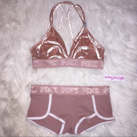 4f28a2edc3b3c S VELVET VS PINK Bralette Boyshorts Set Light Pink