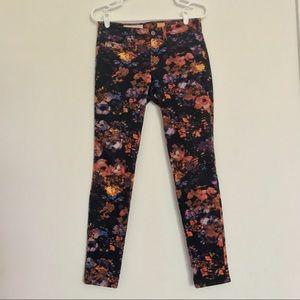 Anthropologie Flower Cords Pants