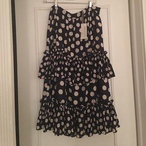 NWT JCrew polka dot skirt