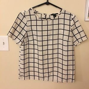 Trendy Graphic Blouse- Small