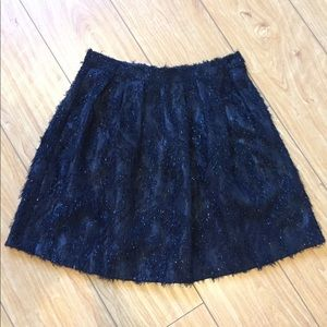 TOPSHOP Black Metallic Skirt | Size 36 EUR, 4 US