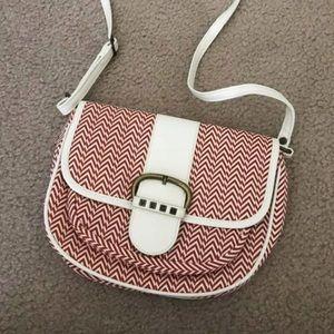 Volcom chevron print purse