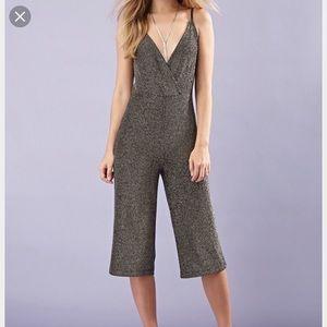 Metallic Culottes Jumpsuit