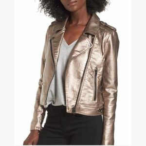 Forever 21 Metallic Gold Faux Leather Jacket
