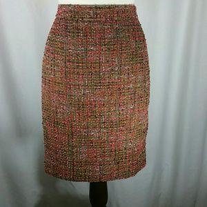 J. CREW The Pencil Skirt Sz6 Brown Tweed