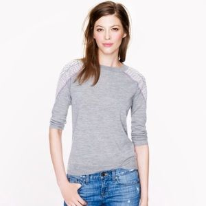 J. Crew tippi sweater w/ shoulder embroidery