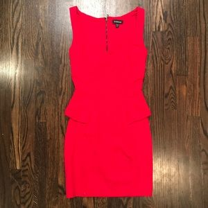 Bebe red dress XS