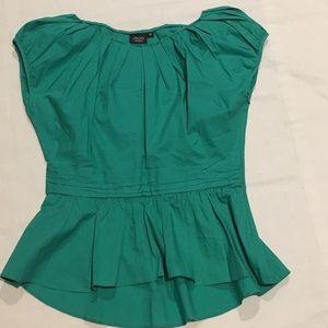 Roo Moderato Green Blouse Sz 38/Small