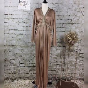 Vintage La Faye Taupe Long Sleeve Gown