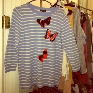 J. Crew Butterfly Sweater with 3/4 Sleeves