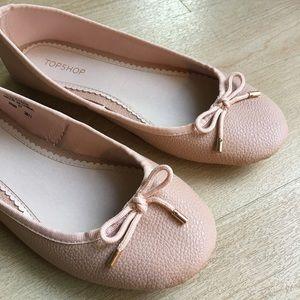 NWT Topshop Blush Pink Ballet Pumps Flats 6.5