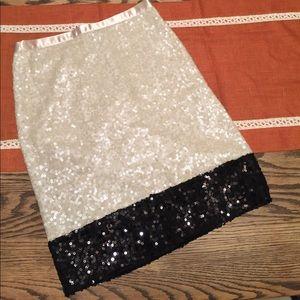 Jcrew Sequined Colorblock Pencjl Skirt