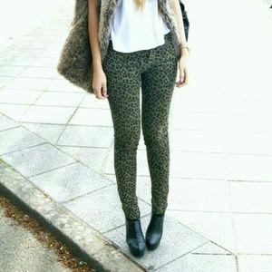 Velvet Cheetah Skinny Jeans