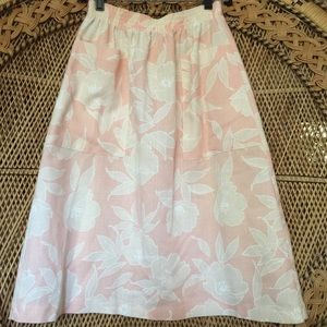 Vintage high waist floral Hawaiian skirt 🌺