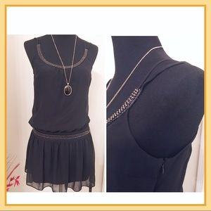 Guess Beaded Chiffon Mini Dress
