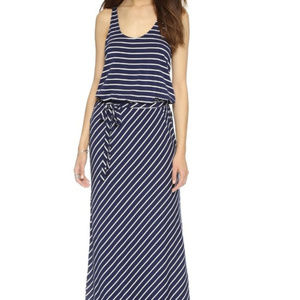 Soft Joie Navy and White Stripe Maribel Maxi Dress