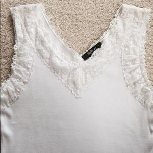 Style & Co. White Lacy Camisole or Top