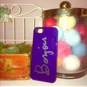 """Bonjour"" iPhone 5/5s case"