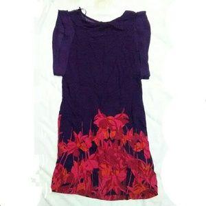 H&M Purple Floral Print Sheeth Dress